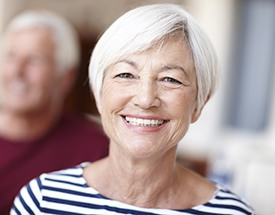 Senior woman with natural looking dentures